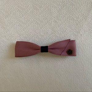 VINTAGE Crystal Ribbon Hand Made Hair Bow/Clip